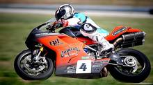 Freightliner Manitoba co-owner Rod Snyder rides his Ducati 1198 superbike in a race in Nebraska in 2010. (CHRISTIAN MOTORSICKO/COURTESY OF ROD SNYDER)