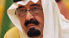 "A picture taken on May 10, 2011 shows Saudi King Abdullah bin Abdul Aziz during a meeting of Gulf Cooperation Council (GCC) monarchies in Riyadh. Saudi Arabia has recalled its ambassador from Damascus for consultations, King Abdullah said on August 8, 2011, in a statement calling on Syria's leaders to ""stop the killing machine"". (Fayez Nureldine/AFP/Getty Images)"