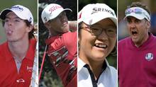 Faces of golf in 2012 - Rory McIlroy, Graham DeLaet, Lydia Ko and Ian Poulter