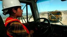 Dump trucks in operation at a Glamis Gold mining project in Guatemala. (DANIEL LECLAIR/DANIEL LECLAIR/REUTERS)