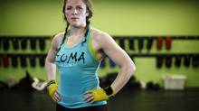 Holding a 15-2 record, bantamweight mixed martial artist, Sarah Kaufman, is one of 10 women who recently signed with the Ultimate Fighting Championship's new division. Victoria, B.C. Wednesday February 27, 2013. (Chad Hipolito/The Globe and Mail)