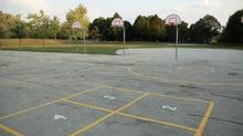An empty schoolyard (Joel Blit/Getty Images/iStockphoto)