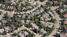 An aerial view of housing in Calgary is shown. (Jonathan Hayward)