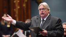 Quebec Health Minister Gaetan Barrette speaks during question period Thursday, March 19, 2015 at the legislature in Quebec City. THE CANADIAN PRESS/Jacques Boissinot (Jacques Boissinot/THE CANADIAN PRESS)