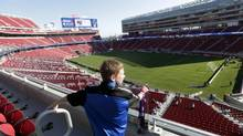 A view of the new Levi's Stadium which will play host to an outdoor NHL game next February (Marcio Jose Sanchez/AP)
