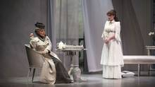 Corrine Koslo as Duchess of Berwick and Marla McLean as Lady Windermere in Lady Windermere's Fan, playing at the 2013 Shaw Festival. (Emily Cooper/The Shaw Festival)