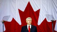 Canadian Prime Minister Stephen Harper speaks at a news conference in Richmond Hill, Ontario, January 30, 2015. (Mark Blinch For The Globe and Mail)