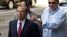 NHL commissioner Gary Bettman arrives at U.S. Bankruptcy Court in Phoenix on Friday. (JOSHUA LOTT/Joshua Lott/Reuters)
