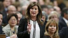 Interim Conservative Leader Rona Ambrose says Trudeau isn't prepared for a Trump administration, which could lead to loss of Canadian jobs to U.S. (CHRIS WATTIE/REUTERS)
