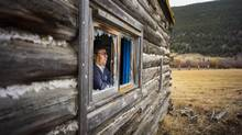 Chief Roger Williams, vice-chair of the Tsilhqot'in National Government, at his childhood Nemiah Valley home on Oct. 21, 2014. (John Lehmann/The Globe and Mail)
