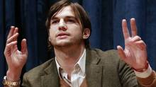 Actor Ashton Kutcher has decided to stop tweeting on the subject of Penn State's Joe Paterno after taking heat for an impassioned tweet in defence of the coach. REUTERS/Brendan McDermid (Brendan McDermid/Reuters)