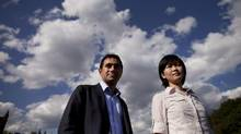 Canadian researchers Hossein Rahnama, left, and Joyce Poon, right, made MIT's 35 under 35 list. (Moe Doiron/The Globe and Mail)