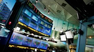 The Toronto Stock Exchange Broadcast Centre in Toronto.