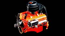 Since it was introduced in 1955, the Chevrolet Small Block has consistently featured a compact, efficient 90-degree V-8 design, with overhead valves, pushrod valvetrain, and 4.4-inch on-center bore spacing. (GM/GM)