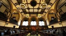 Ontario's legislature sits empty on Tuesday. (Fred Lum/The Globe and Mail)
