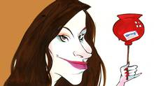 Former wrestler Trish Stratus on junk-food warning labels (Anthony Jenkins/The Globe and Mail)