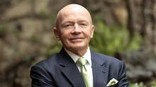 Templeton's Mark Mobius, photographed during a visit to Toronto on Oct. 24, 2011. (Photo by Peter Power/The Globe and Mail)