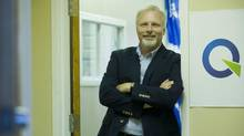 Parti Quebecois candidate for the riding of Rosemont Jean-Francois Lisee poses for a photograph at his campaign office in Montreal, Wednesday, August 8, 2012.