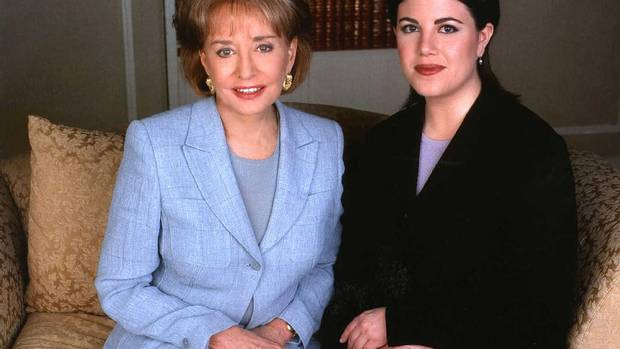 """""""I wouldn't dream of asking Chelsea and Mrs. Clinton to forgive me, but I would ask them to know I'm very sorry for what happened and what they've been through."""" That was Monica Lewinsky speaking to Barbara Walters in 1999 on the subject of what exactly had gone on with President Bill Clinton, and why perhaps it shouldn't have. The interview on 20/20 drew 48.5 million viewers. (Virginia Sherwood/Reuters)"""