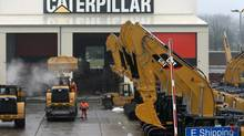 This photo shows a parking lot at Caterpillar Belgium, in Gosselies, Belgium. Caterpillar Inc. willl close a Toronto factory by next year, putting 330 workers out of a job. (Yves Logghe/AP)