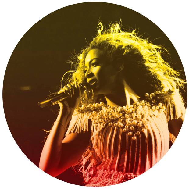 Pop star Beyoncé performing in Toronto