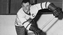 Ted Kennedy, seen here around 1957, captained the Toronto Maple Leafs from 1948-55. (Turofsky/Turofsky)