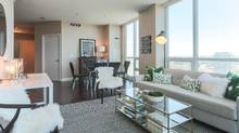 This two-bedroom-plus-den at 16 Yonge was sold for about $75,000 less than the closing price of a comparable unit in the same building that had sold a few weeks before, reflecting how quickly the market has chilled. (Xingyi Wang/Globe and Mail Update)