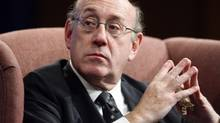 "In this Oct. 27, 2009 file photo, Special Master for Executive Compensation Ken Feinberg, also known as the Treasury Department's ""pay czar,"" speaks during a discussion at Georgetown Law Center in Washington. (Charles Dharapak/AP)"