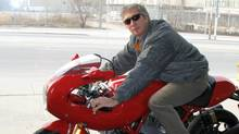 Peter Cheney on a Ducati Sport 1000 motorcycle, one of many bikes that he lusted for before coming to the realization that his motorcycle days were over. (Peter Cheney for The Globe and Mail)