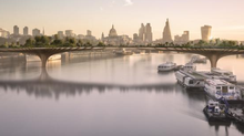 London designer Thomas Heatherwick proposes a Garden Bridge near Temple Bar that will break up an interminable stretch of riverfront highway. Visualization of the proposed Garden Bridge between the Southbank and Temple. Pigment print, made in 2014 The mountain gardens of her childhood home in Malaysia, in which plants seemed to float on a sea of mist, inspired actress Joanna Lumley to propose a garden bridge in 1998, as a memorial to Princess Diana. It was not until 2012 that Thomas Heatherwick contacted Lumley and the idea became a developed concept. If given planning consent, Garden Bridge will create an additional crossing of the Thames for both pedestrians and cyclists and a new central London park by 2017. © Arup (arup)