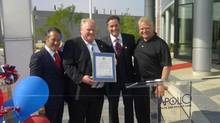 From left to right, Richard Wachsberg, Mayor Rob Ford, Charles Wachsberg and Councillor Doug Ford in June, 2012.