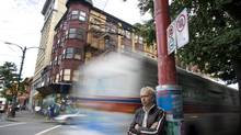 Mark Townsend of the Portland Hotel Society in shown in front of the boarded-up Pennsylvania Hotel on Hastings Street in Vancouver, August 9, 2006. (Rafal Gerszak/Globe and Mail)