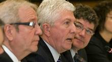 Bloc Quebecois Leader Gilles Duceppe opens a two-day caucus meeting in Quebec City on Jan. 25, 2011. (Clement Allard/THE CANADIAN PRESS)