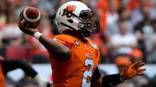 B.C. Lions quarterback Kevin Glenn passes against the Montreal Alouettes during the first half of a CFL football game in Vancouver, B.C., on Saturday July 19, 2014. (DARRYL DYCK/THE CANADIAN PRESS)