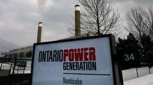 Vapor rises from stacks at the Coal-fired Nanticoke Generating Station, owned by Ontario Power Generation in Nanticoke, February 28, 2007. (J.P. MOCZULSKI)