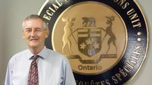 Ian Scott, the outgoing director of Ontario's Special Investigations Unit, is seen at headquarters in Mississauga, Ont., on Friday Sept. 27, 2013. (Colin Perkel/THE CANADIAN PRESS)