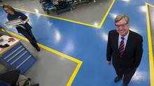 'I think the strength of our manufacturing here in Canada results from the quality of people – with great skills and expertise – that we can attract. We are a technology-based business, and we can draw upon the enormous talent of people who live in Canada,' says Bill Barker, president and CEO of Mold-Masters, seen here in the Mold-Master plant in Georgetown, Ont. (Deborah Baic/The Globe and Mail)