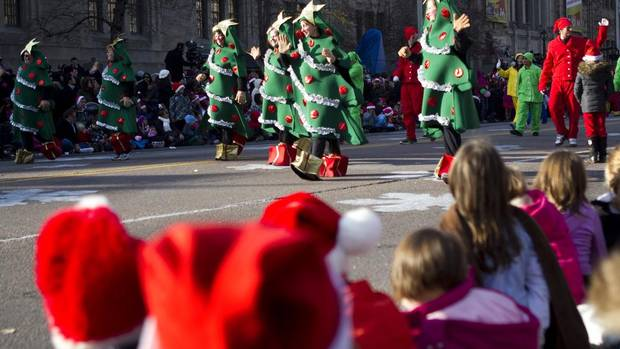 Participants take part in the Santa Claus Parade in Toronto on Sunday November 18, 2012. (Chris Young/The Globe and Mail)