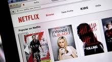 The Netflix Inc. website is displayed on a laptop computer in this arranged photograph in Washington on July 10. (Andrew Harrer/Bloomberg)