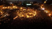 Opposition supporters gather in their stronghold of Tahrir Square, in Cairo (SUHAIB SALEM/SUHAIB SALEM/REUTERS)