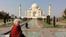 Blogger Janice Waugh in front of the Taj Mahal. (Penny Marriott)