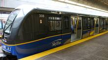 A SkyTrain car in Vancouver on May 6th, 2009. (Simon Hayter For The Globe and Mail/Simon Hayter For The Globe and Mail)