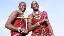Wilson Meikuaya and Jackson Ntirkana, Maasai warriors from Kenya, will appear at We Day. (V. Tony Hauser)