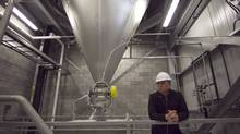 Jean Moreau, president and CEO of CelluForce Inc., in the spray dryer room of the company's Windsor, Que., plant. (Christinne Muschi for The Globe and Mail/Christinne Muschi for The Globe and Mail)