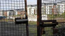 A deserted building site in Dublin: Ireland's request for easier payment terms on its €90-billion bailout was rejected. (Peter Morrison/Associated Press)