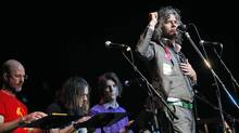 The Flaming Lips perform during the Woody Guthrie Centennial Concert at the Brady Theater in Tulsa, OK, Saturday March 10, 2012. (CHRISTOPHER SMITH/CHRISTOPHER SMITH / AP)