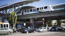 The Skytrain station at Broadway and Commercial in Vancouver on August 9, 2013. (John Lehmann/The Globe and Mail)