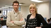Shoplocket's Andrew Louis, left, and Katherine Hague (DAN KALMAR)