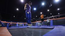 Skyrobics class at Sky Zone in Toronto (Fred Lum for The Globe and Mail)