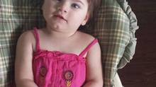 Two-year-old Kyla Williams hasn't learned to walk or talk, her development has stopped as she suffered as many as 200 seizures daily and no medication helped. Now the girl's family say she hasn't had a seizure in a week, ever since they began giving her cannabis oil extracted from hemp. (handout from family)